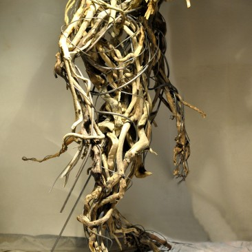 Dieu-Arbre bois et fer 270X140X140 cm