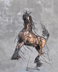 Cheval cabré 55X50X30 cm