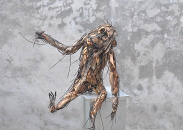 Jeune orang outan 80X100X50 cm
