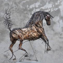 Cheval de race espagnol 70X80X30 cm (1)