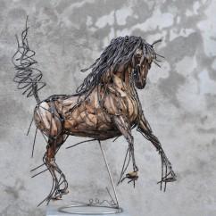 Cheval de race espagnol 70X80X30 cm (10)