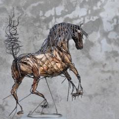 Cheval de race espagnol 70X80X30 cm (3)