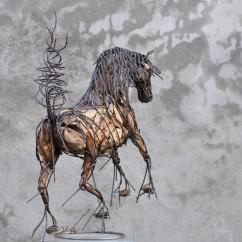 Cheval de race espagnol 70X80X30 cm (4)