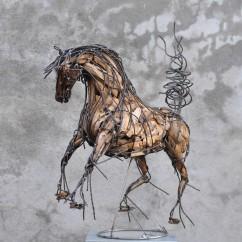 Cheval de race espagnol 70X80X30 cm (8)