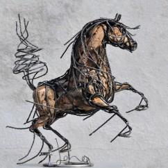 Petit cheval cabré 44X43X20 cm (2) - Copie