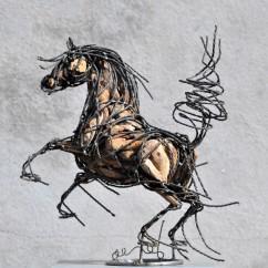 Petit cheval cabré 44X43X20 cm (4)